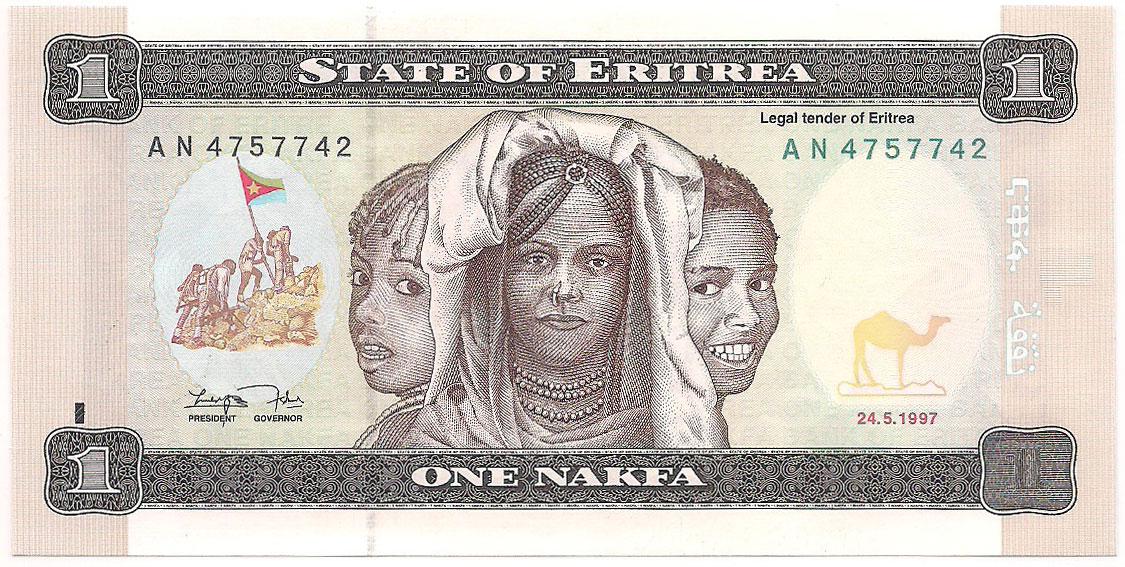 Eritreia - 1 Nafka FE 1997