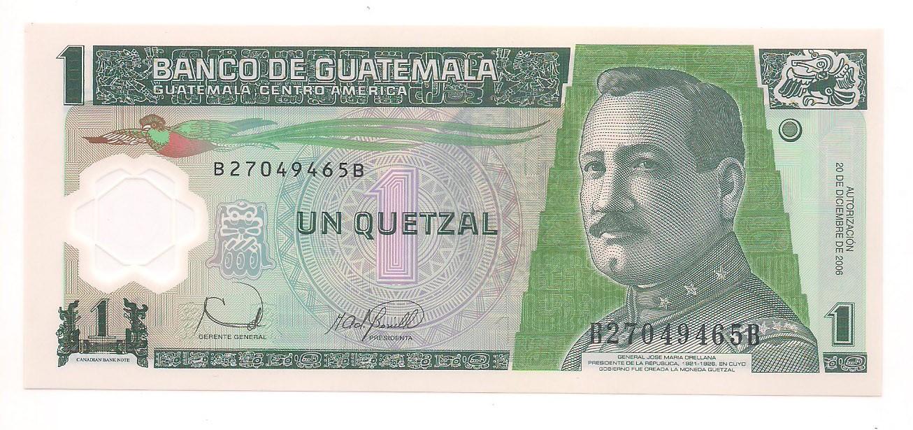 Guatemala - 1 Quetzal (2006; 2008; 2012) Polímero