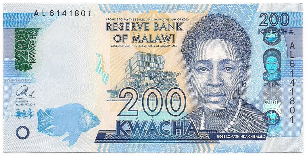 Malawi - 200 Kwacha  (Rose Chibambo) FE 2016