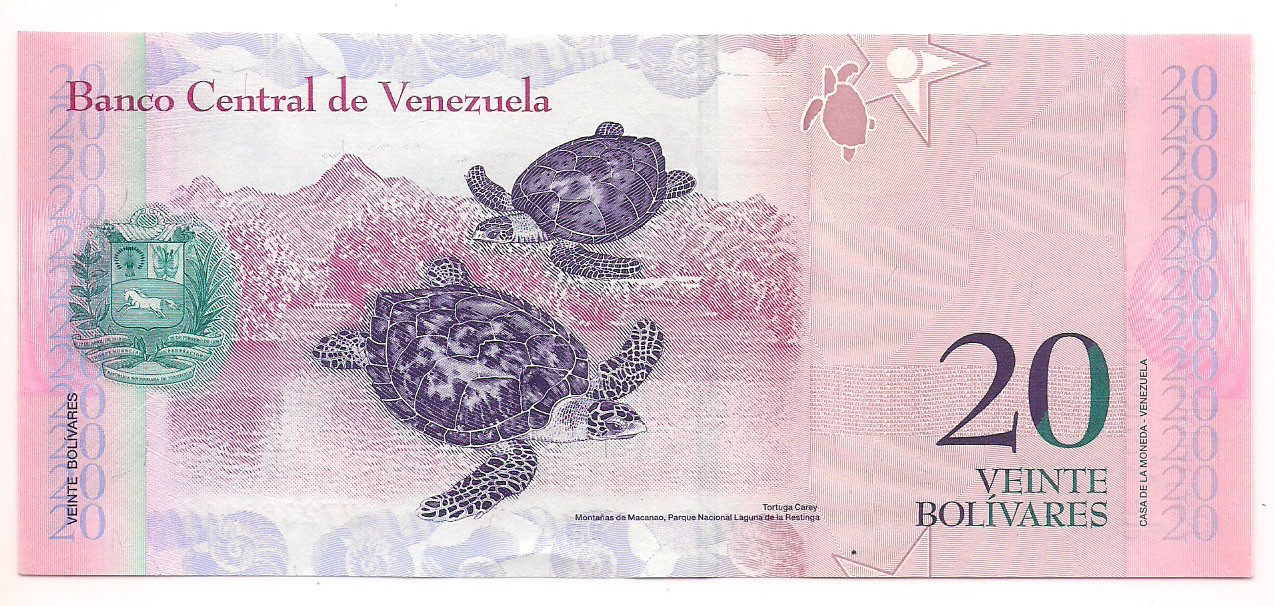 Venezuela - 20 Bolívares 2013