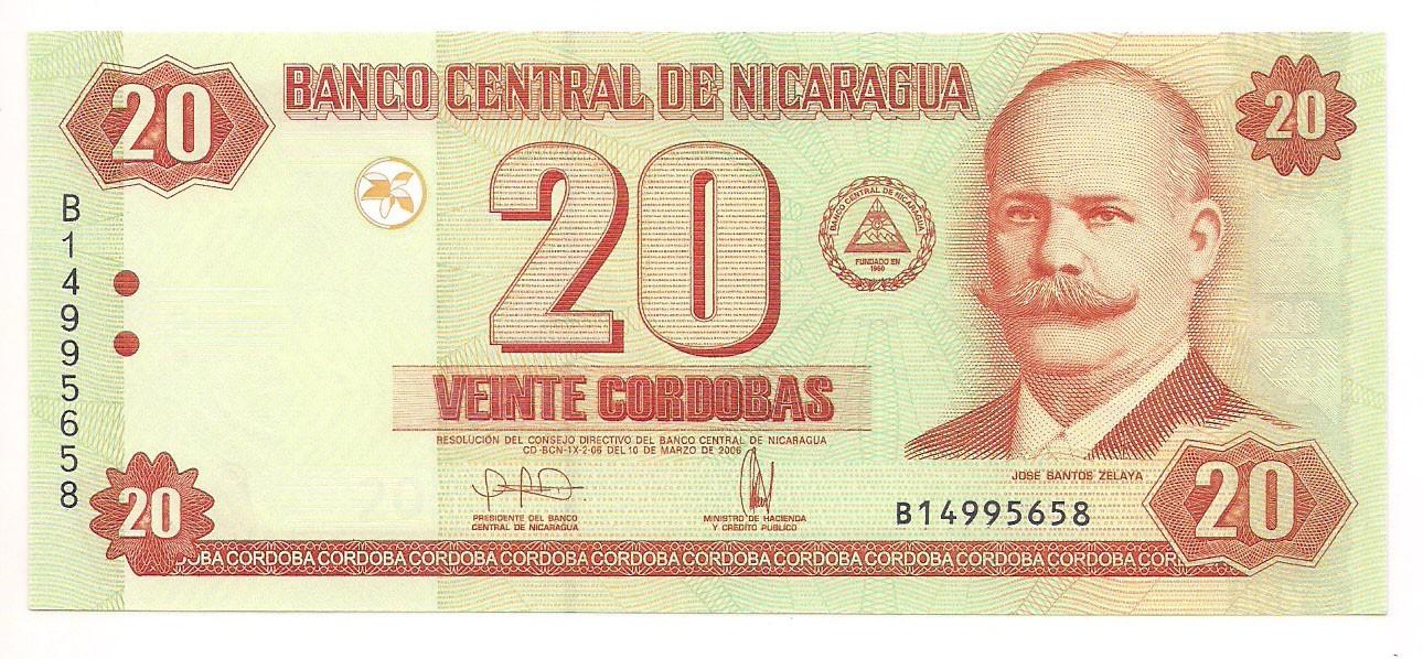 Nicarágua 20 Cordobas 2006 FE