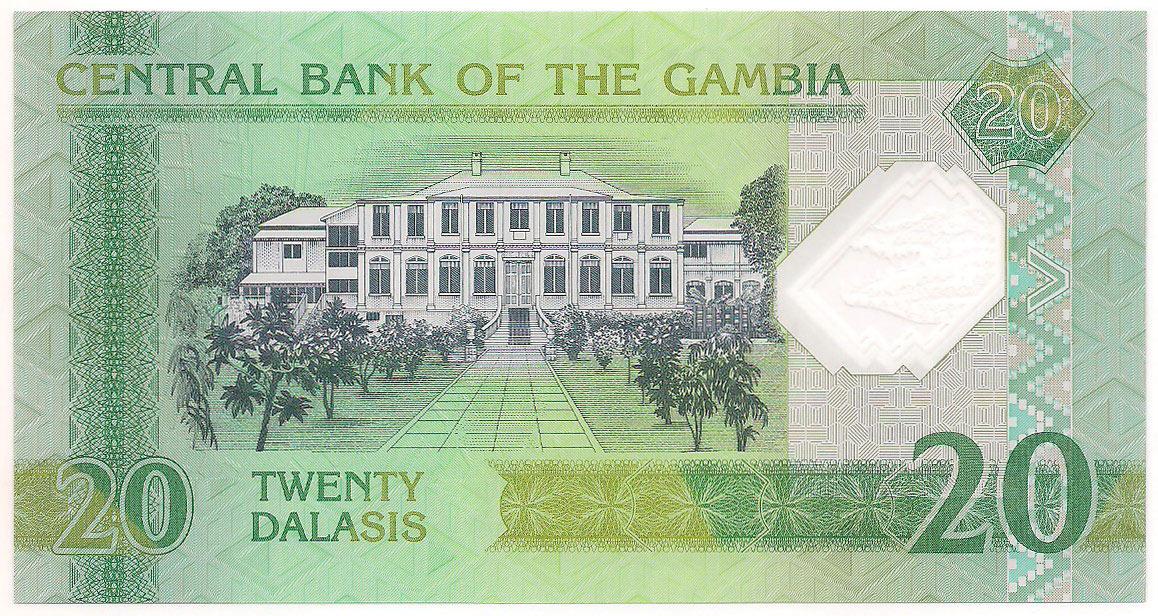 Gâmbia - 20 Dalasis (Yahya Jammeh) 2014