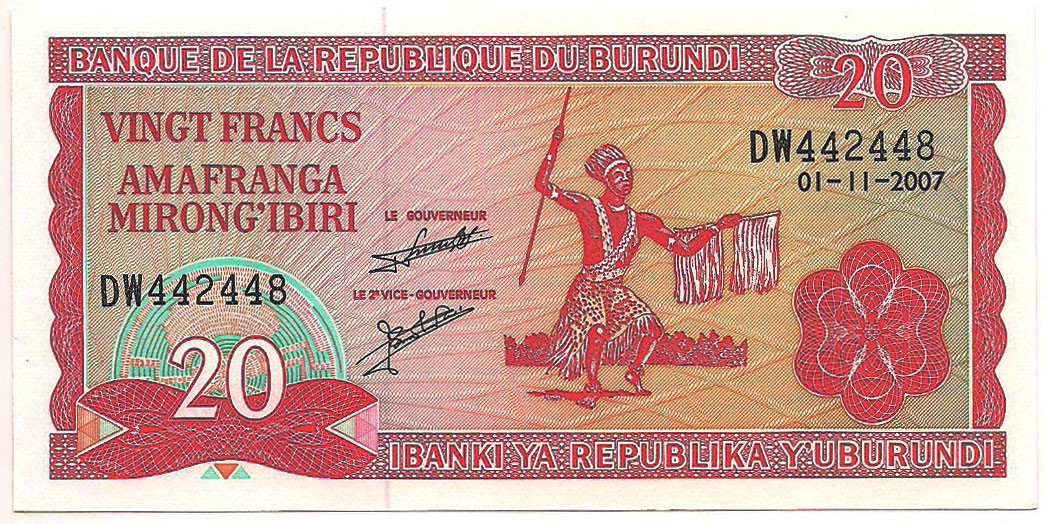 Burundi - 20 Francs FE 2007