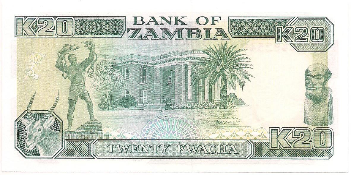 Zâmbia - 20 Kwacha FE 1991
