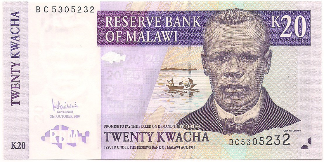 Malawi - 20 Kwacha FE 2007