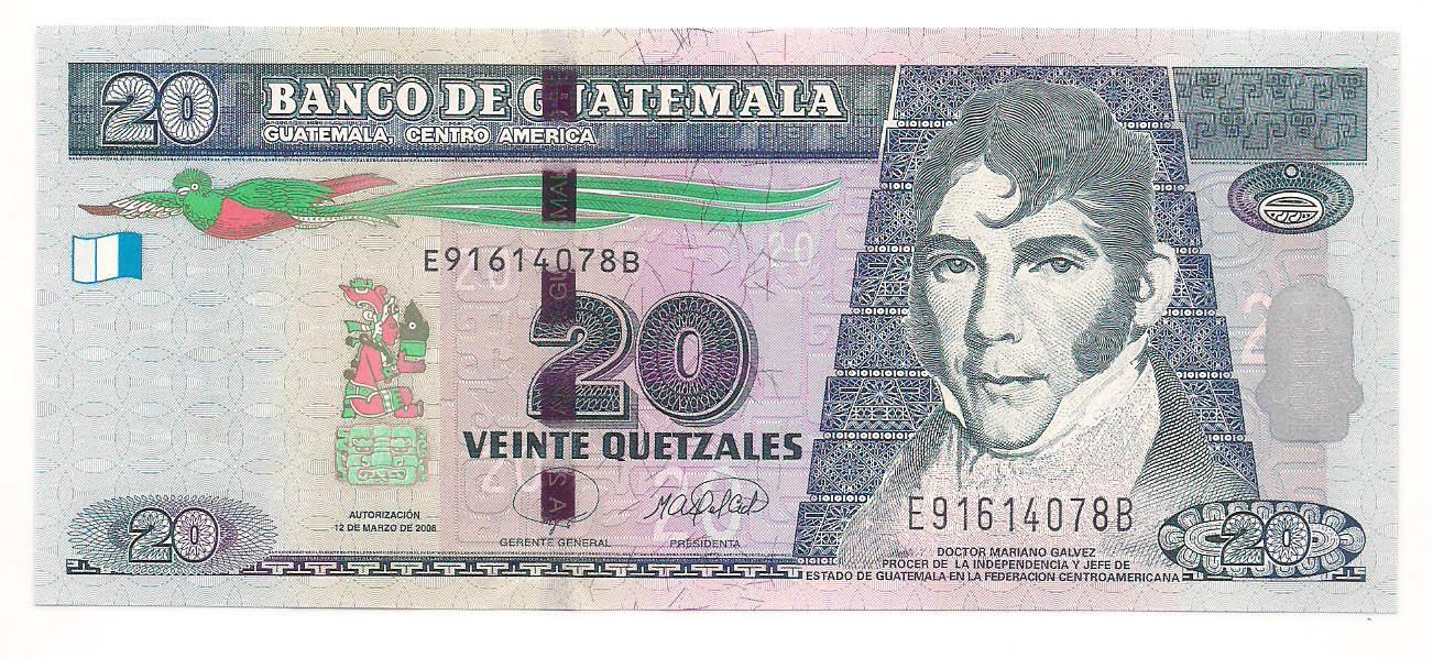 Guatemala - 20 Quetzales FE 2008