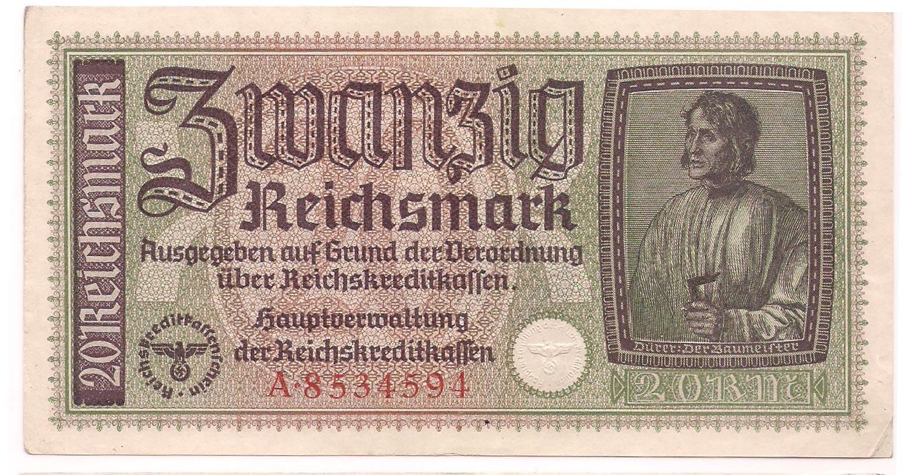 Alemanha - 20 Reichsmark