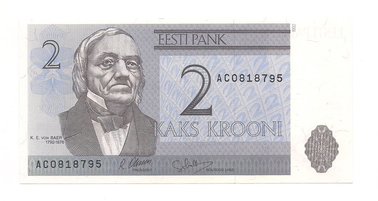Estônia - 2 Krooni FE 1992