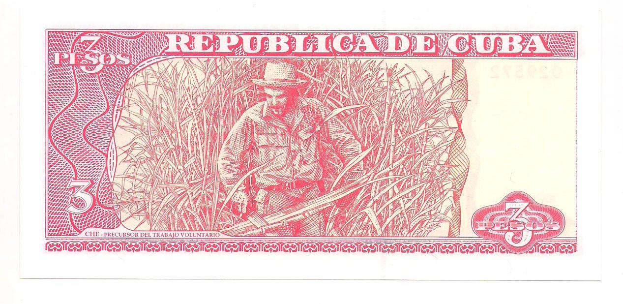 Cuba - 3 Pesos (Ernesto Guevara) FE 2004