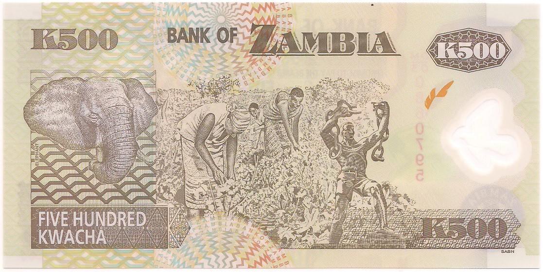 Zâmbia - 500 Kwacha FE 2008 & 2009