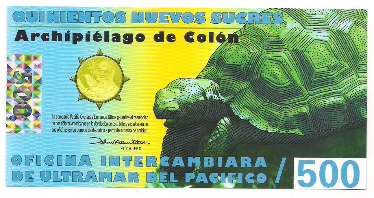 Ilhas Galápagos (Equador) - 500 Nuevos Sucres 2011