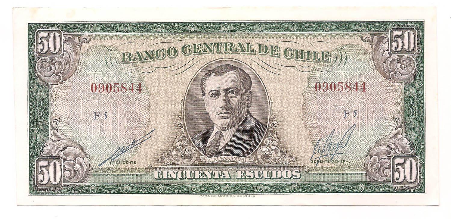 Chile - 50 Escudos A. Alessandri SOB-FE