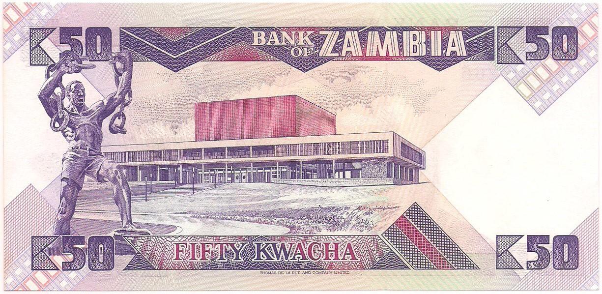 Zâmbia - 50 Kwacha FE 1986