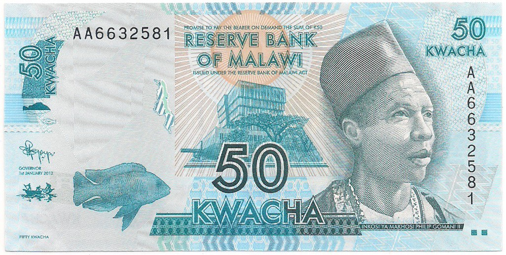 Malawi - 50 Kwacha FE 2015 & 2012