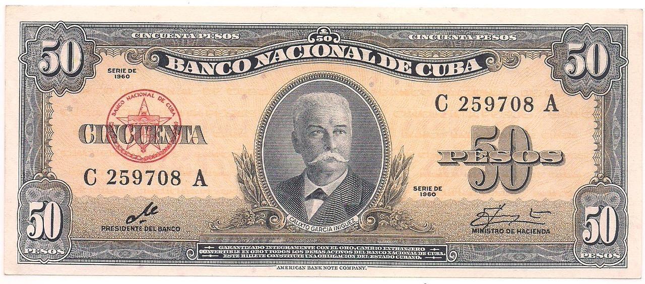 Cuba - 50 Pesos (Calixto Garcia Iniguez) 1960