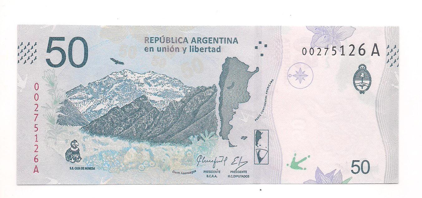 Argentina - 50 Pesos (Condor dos Andes) FE