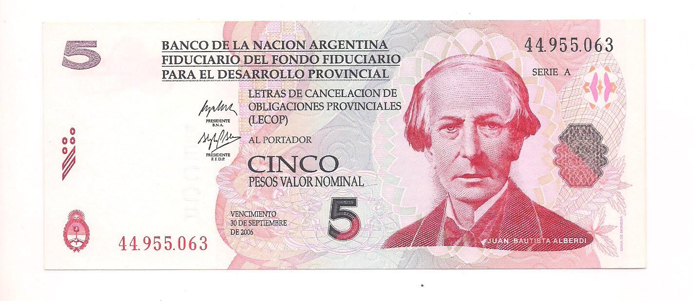 Argentina - 5 Pesos FE