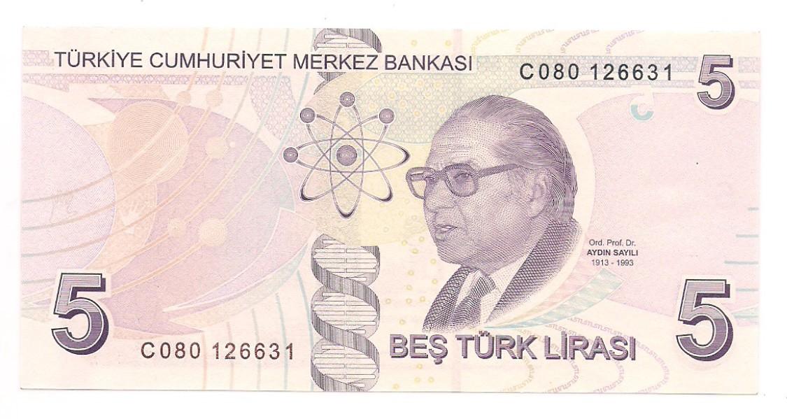 Turquia - 5 Turk Lirasi 2009