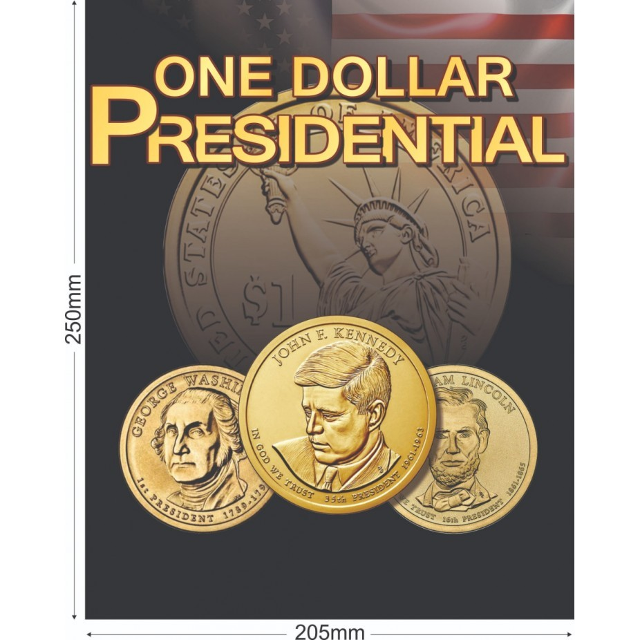 Álbum Coleção EUA 1Dolar - Presidentes