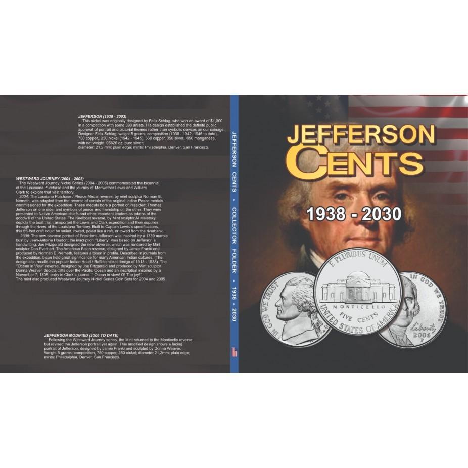 Álbum EUA 0,05 Cents Dollar 1938 a 2030