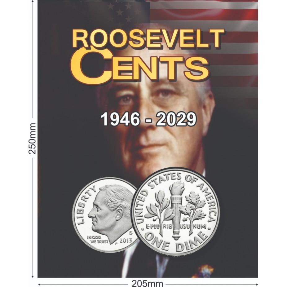 Álbum EUA 0,10 Cents Dollar 1946 a 2029
