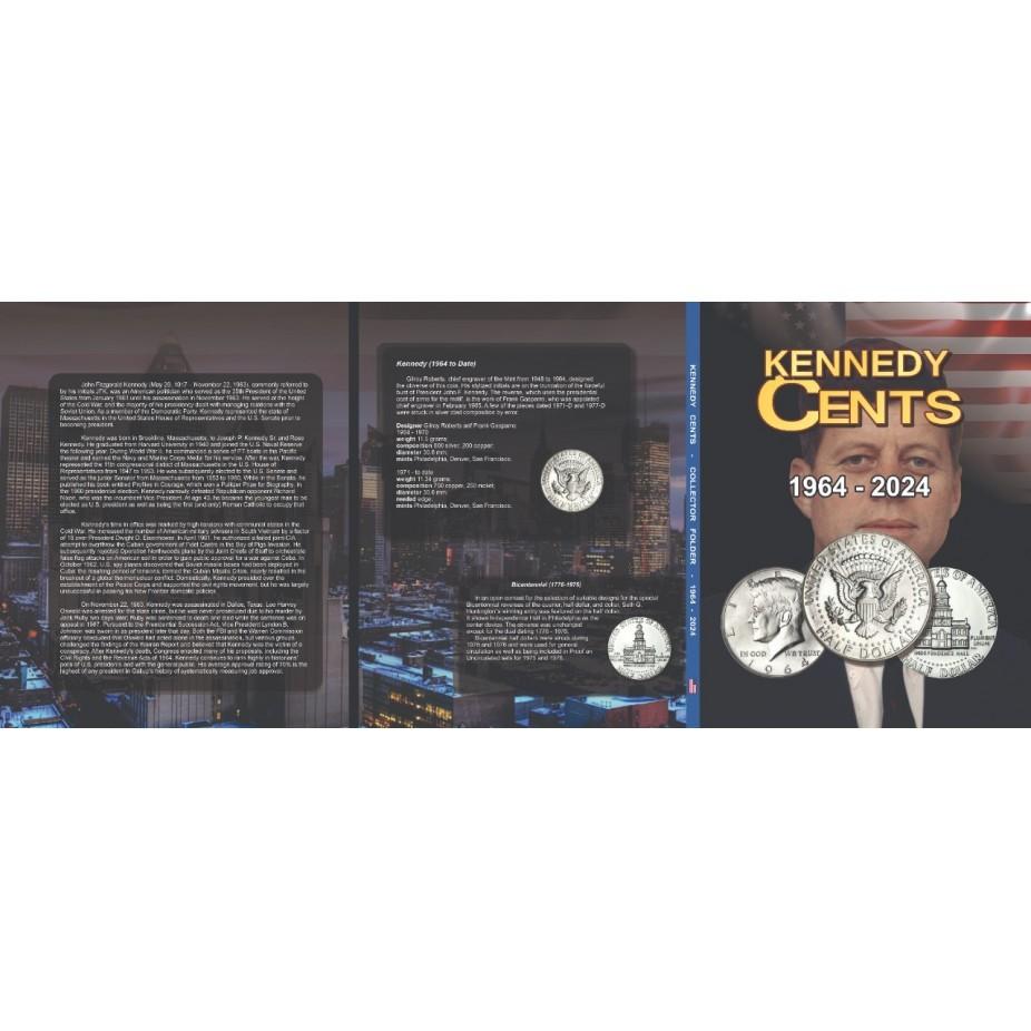 Álbum EUA 0,50 Cents Dollar 1964 a 2024