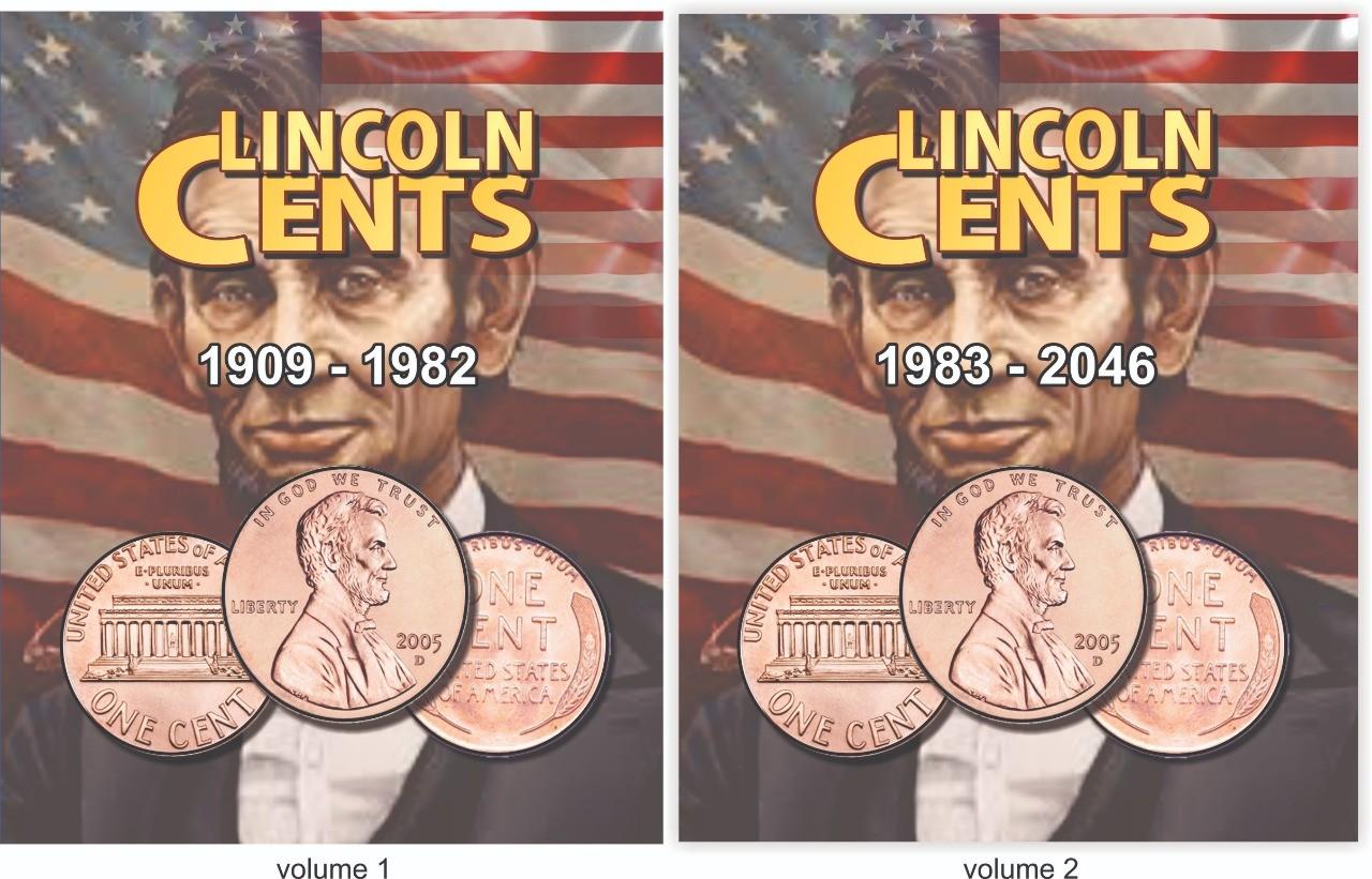Álbum EUA One Cents 1909 a 2046 2 Volumes