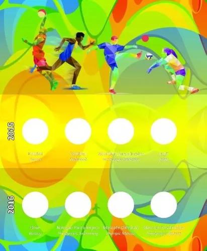 Álbum Para A Coleção Completa Das Moedas Olimpíadas 2016