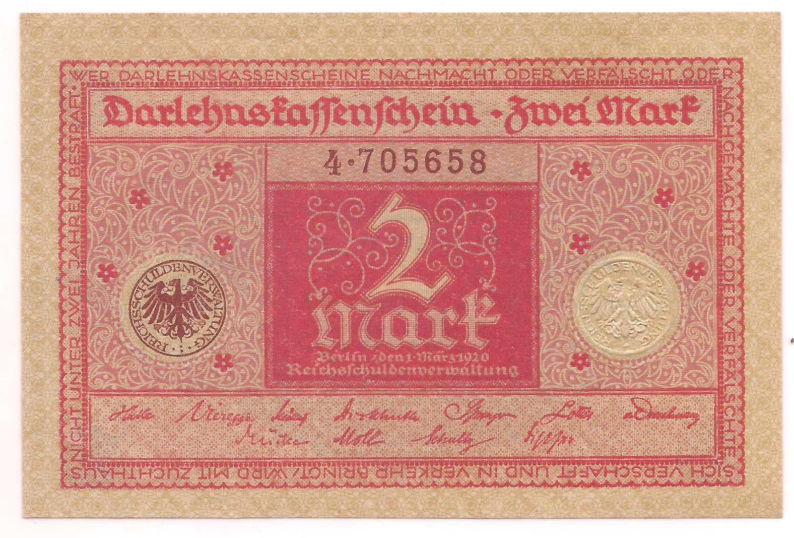 Alemanha - 2 Mark 1920