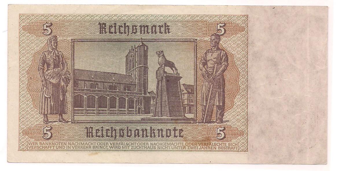 Alemanha - 5 Reichsmark 1942