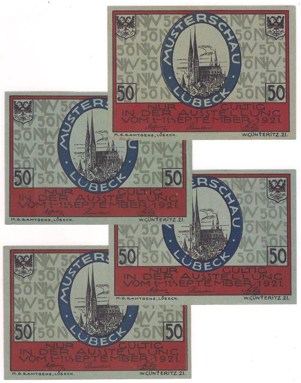Alemanha - Notgeld  4 x 50 Pfennig 1921