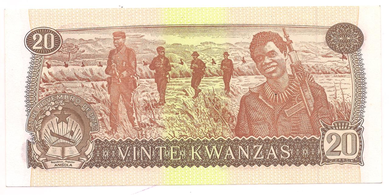 Angola - 20 Kwanzas 1976 - FE