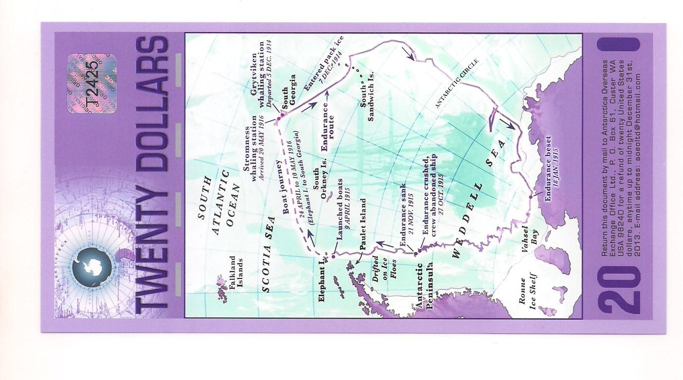 Antártida - 20 Dólares 2008