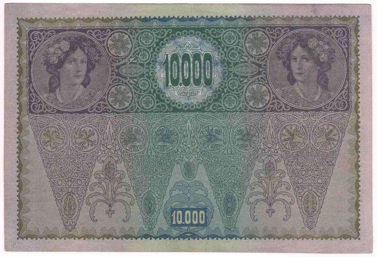 Áustria- 10.000 Kronen 1918