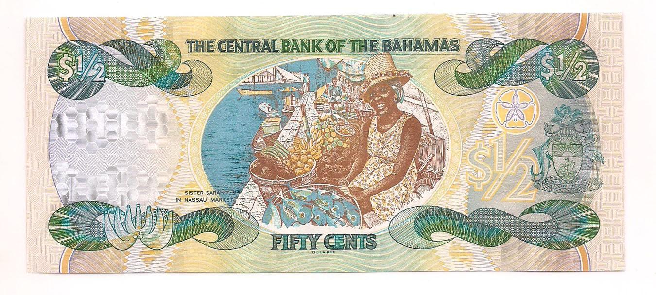 Bahamas - 1/2 Cents FE 2001