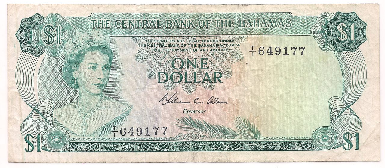 Bahamas - 1 Dólar 1974