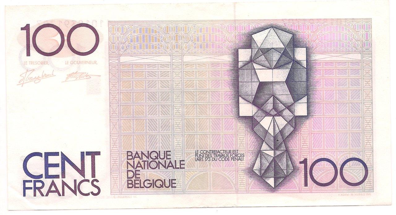 Bélgica - 100 Francs 1982-94 - SOB