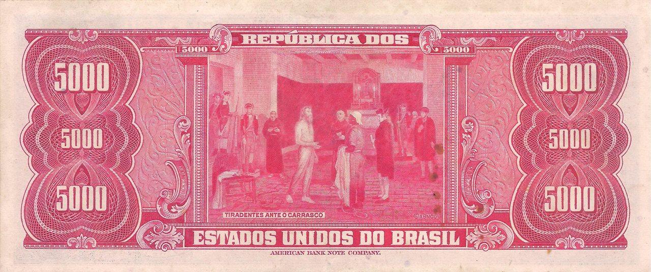 C-057 5.000 Cruzeiros (Tiradentes) 1963