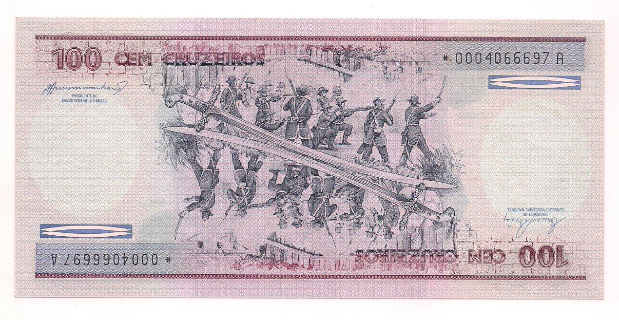 C-157a 100 Cruzeiros 1984 FE  com *