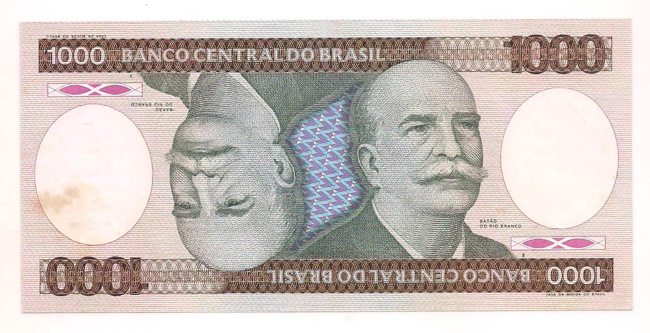 C-165a 1000 Cruzeiros - 1986