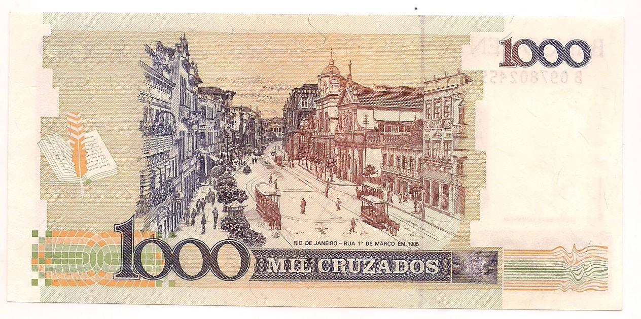 C-198 1000 CRUZADOS COM CARIMBO DE 1 CRUZADO NOVO - FE 1989