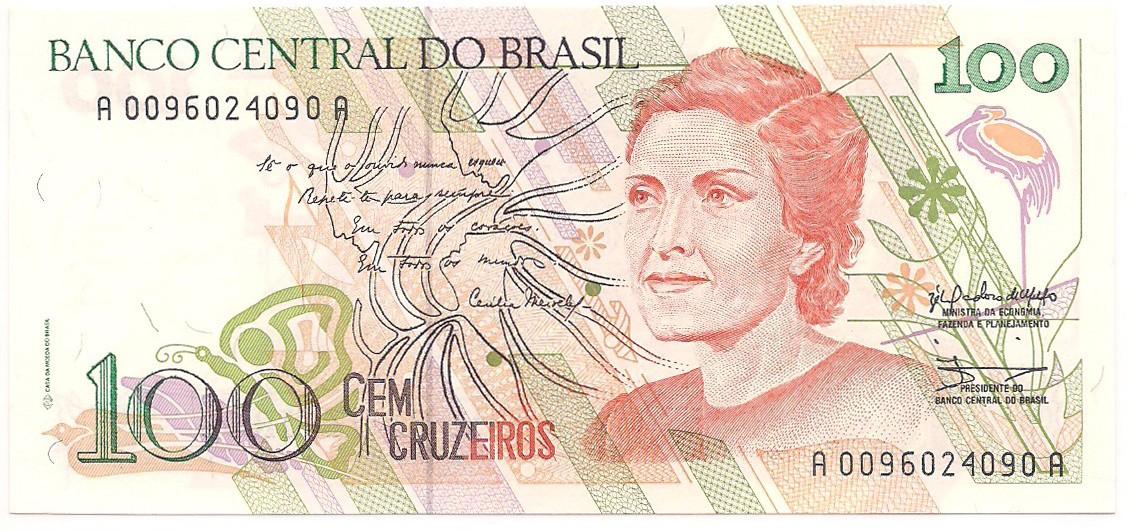 C-214 - 100 Cruzeiros 1990 SOB/FE