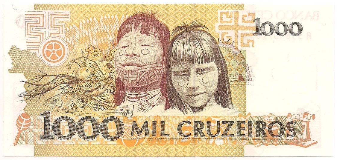 C-217 1000 Cruzeiros - FE 1990