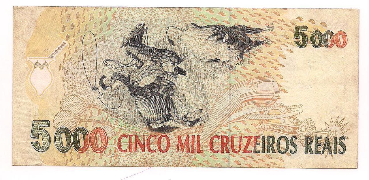 C.239 - 1993 Cédula de 5.000   Cruzeiros Reais  - Gaúcho