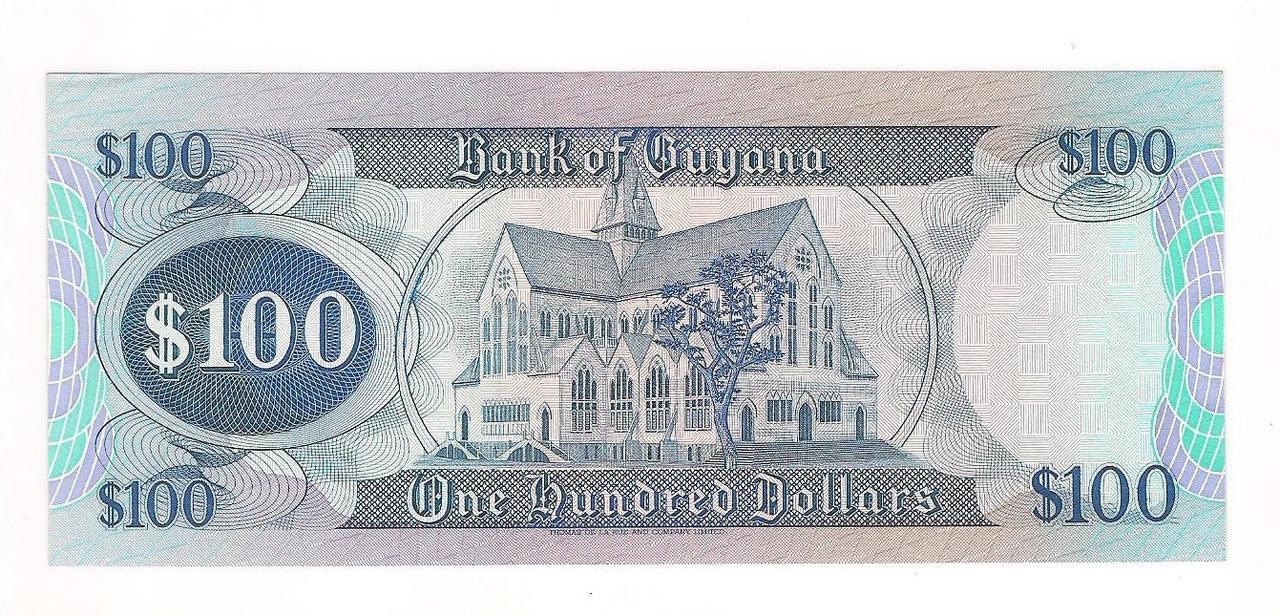 Cédula de 100 Dollars ano de 1999 - GUYANA.