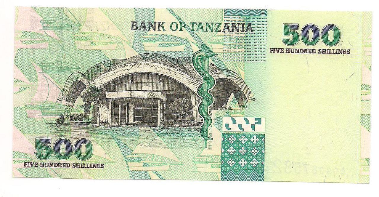 Cédula de 500 shilingi - 2003 FE - TANZANIA.