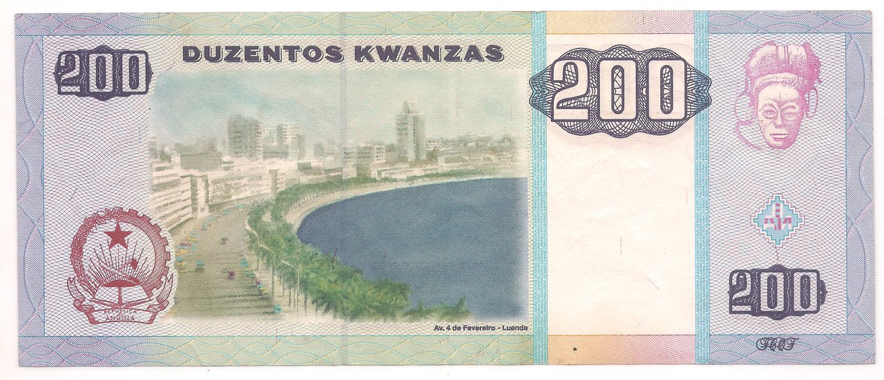 Cédulas da Angola 200 a 1000 Kwanzas - 2003 (Escolha nas variações)