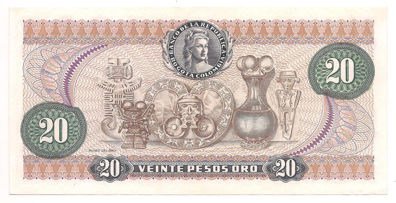 Colômbia - 20 Pesos Oro (Caldas)