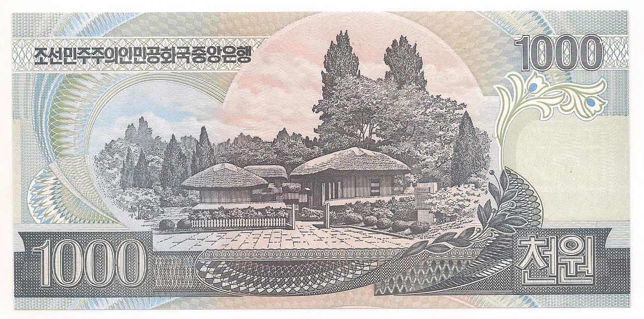 Coréia do Norte 1.000 won (2002; 2006) FE