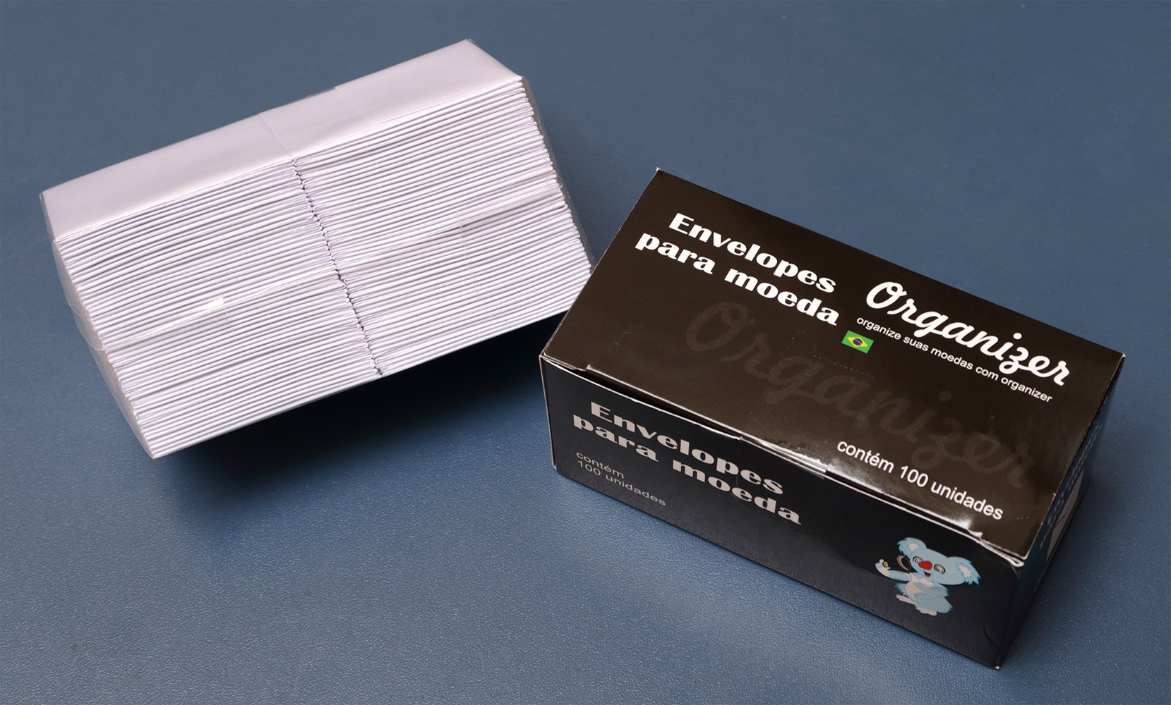 Envelope de papel para moedas - 100 unidades